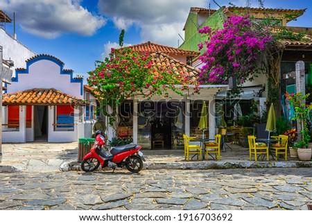 Stone street (Rua das Pedras) in Buzios, Rio de Janeiro, Brazil. Foto stock ©