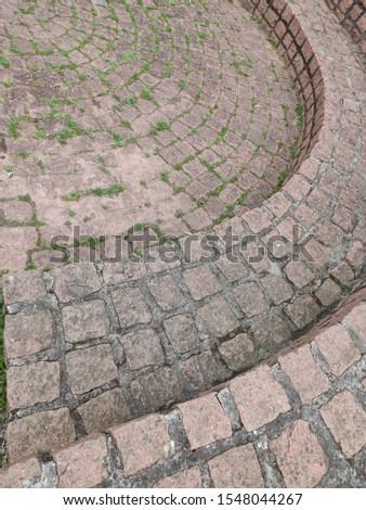 Stone street. Stone pavement Stone pavement