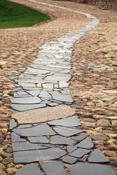 Stone walkway.