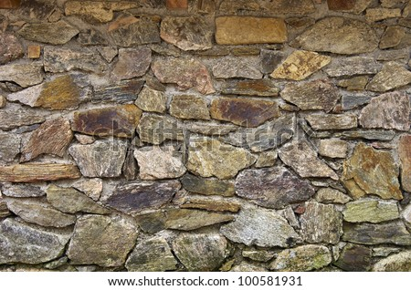 Stone wall background - An old stone wall makes an excellent background.
