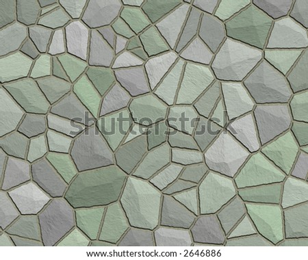 stone wall construction pattern grey green