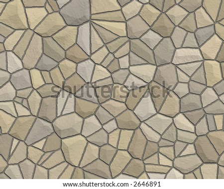 stone wall construction pattern tan grey