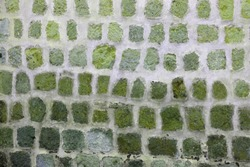 Stone wall from cubes