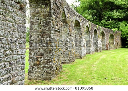 Stone Wall Garden Of A Monastery Stock Photo 81095068 : Shutterstock