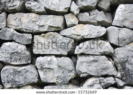 Stone wall in the nature