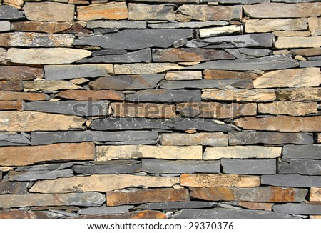 Stone wall pattern, wall made of rocks