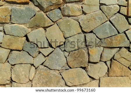 Stone wall textured
