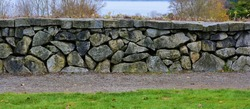 Stone Wall:  This stone wall is in Discovery Park - Seattle, Washington.
