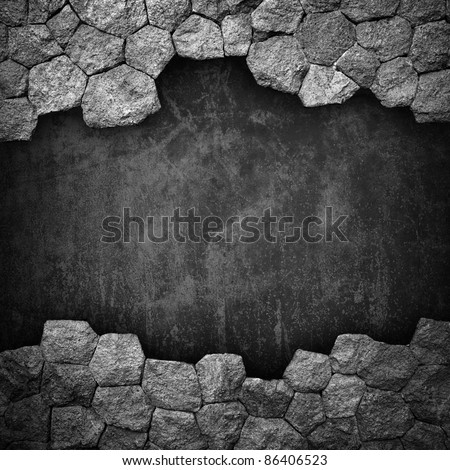 stone wall with hole