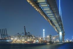 Stonecutters bridge in Hong Kong