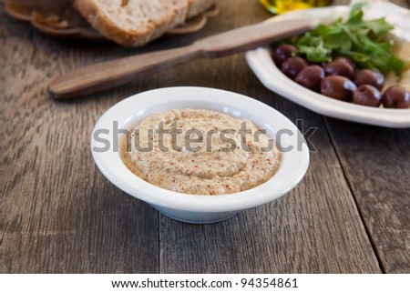 Stoneground mustard sauce in a bowl