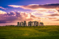 Stonehenge at sunset in England