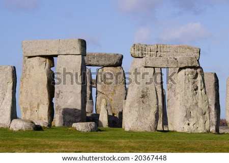 Stonehenge detail - stock photo