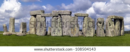 Stonehenge Panorama - UNESCO world heritage site