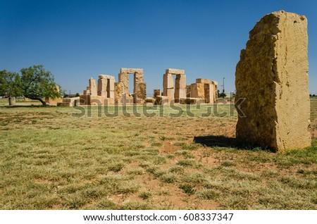Stonehenge replica at the University of Texas in Odessa. #608337347
