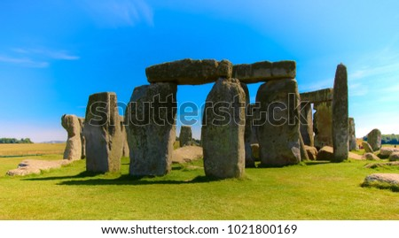 Stonehenge with high contrast