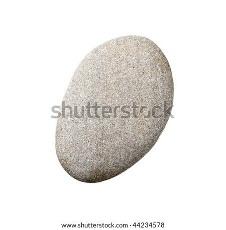 stones and on white background with clipping path