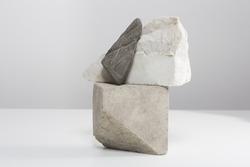 Stones arranged as minimalist art decoration