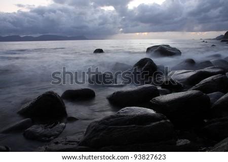 stones at coastline
