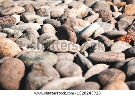stones closeup on pebble stone beach - pebbles macro