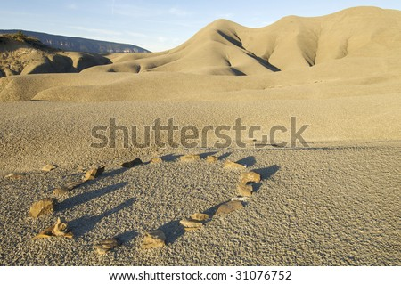 stones in an arid landscape