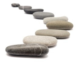 stones isolated on a white background