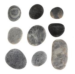 Stones  isolated on white.