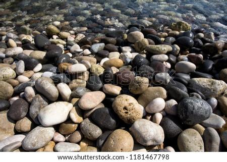 Stones on the beach Stok fotoğraf ©