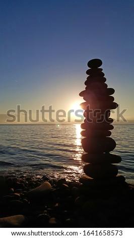 Stones over an over near the sea in Çakraz, Amasra