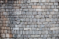 Stones wall of old city in Europe
