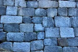 Stonewalls of Fortress Wall of Seoul at Naksan Park at Jongno-gu near Seoul, South Korea