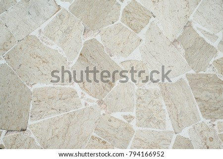 Stonework floor texture, Top view