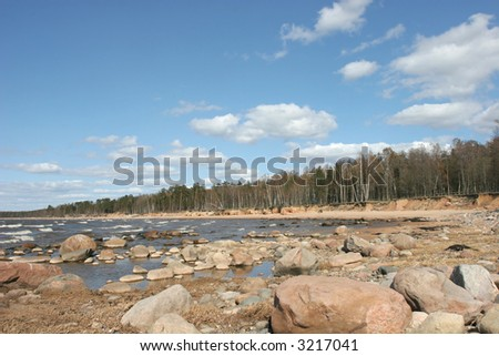 Stony beach (Baltic sea coast, Latvia)