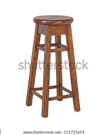 stool isolated on white background - stock photo