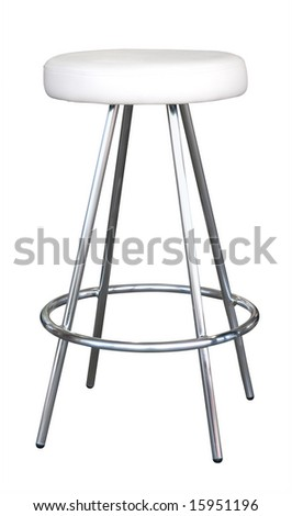 Stool isolated with clipping path
