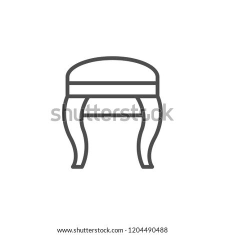 Stool line icon isolated on white