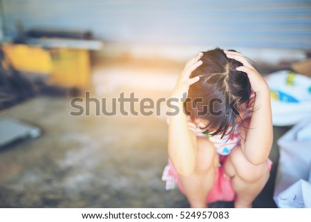 Stop abusing  violence.  violence, terrified , A fearful child #524957083
