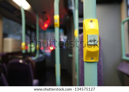 Stop button on a London City Bus