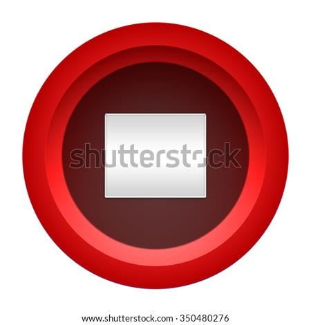 stop icon  #350480276