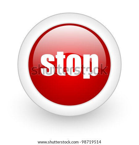 stop icon - stock photo