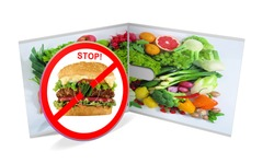 Stop junk food cd isolated
