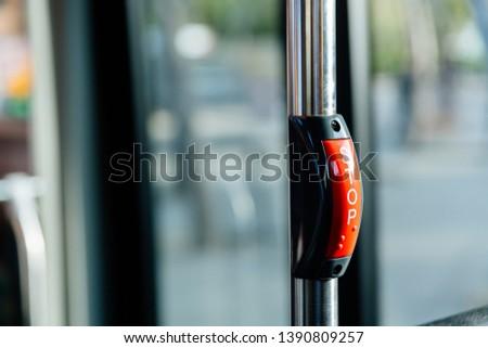Stop key in public bus. Public transport