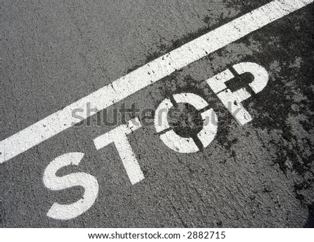 stop on pavement