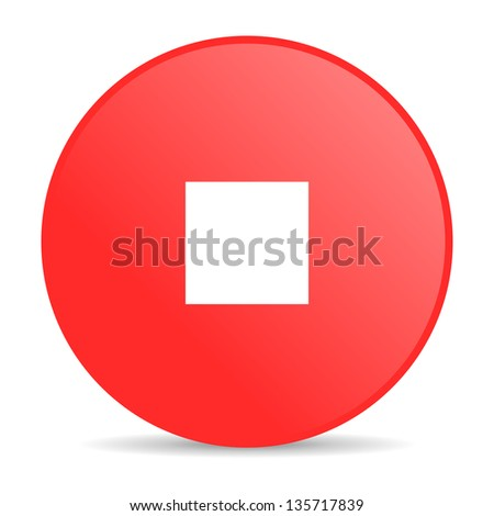 stop red circle web glossy icon #135717839