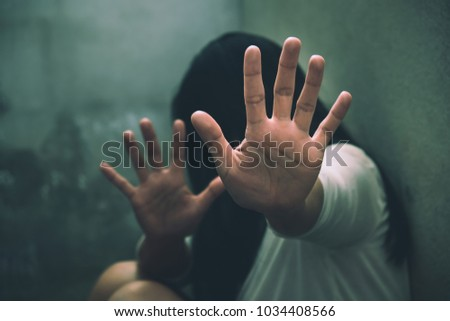 Stop Sexual abuse Concept, stop violence against Women, international women's day