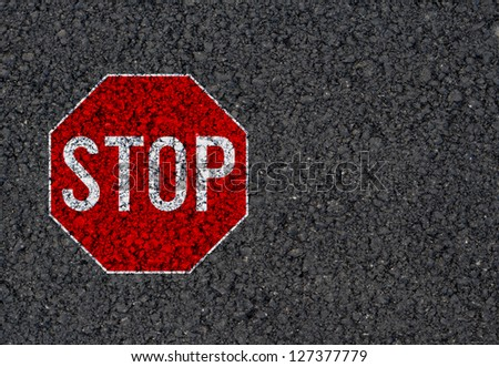 Stop sign background