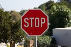 Stop sign in urban setting George South Africa