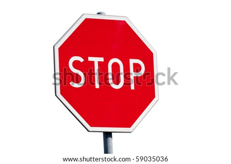 Stop sign isolated