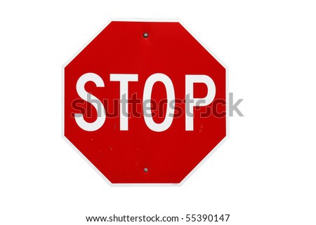 stop sign isolated with clipping path at this size