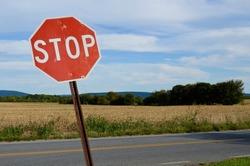 Stop Sign, landscape